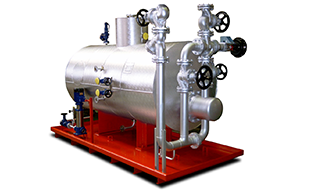 Steam generator thermally heated